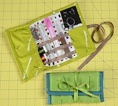 A quick and easy sewing kit to make for yourself or as a gift! Throw it in your purse or totebag and you'll always be ready to stitch.