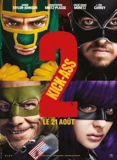 Affiche du film Kick-Ass 2 avec : Aaron Johnson, Christopher Mintz-Plasse, Chloë Grace Moretz, Jim Carrey, Morris Chestnut, John Leguizamo, ...