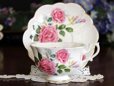 Shelley Teacup Cup and Saucer England Tea Cups by TheVintageTeacup