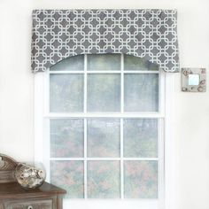 RL Fisher Chained Arch Window Curtain Valance