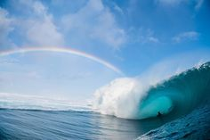 "Luke Shadbolt on Instagram: ""Simon Thornton deep inside one of the most picturesque scenes I've had the pleasure of witnessing. Tahiti, 2015. #teahupoo"""
