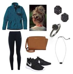 love it by starrehwald on Polyvore featuring polyvore, fashion, style, Patagonia, NIKE, Michael Kors, Kendra Scott, women's clothing, women's fashion, women, female, woman, misses and juniors