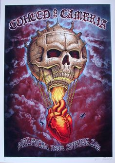 Coheed and Cambria - blood variant silkscreen tour poster (click image for more detail) Artist: EMEK Venue: multi-venue Location: multi-city Concert Date: 2006 Edition: 20; signed and numbered Size: 2