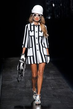 60s Silhouettes  Moschino  LOVE THIS LOOK  sassy yet classy definitely an all eyes on me outfit. and its the accessorizes that matter e.i. gloves, studds etc.