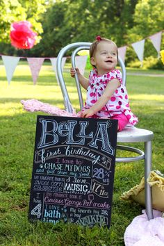"""A """"favorite things"""" poster adds a personal touch to your kiddo's birthday party. #PopSugarMoms #EtsyCustom"""