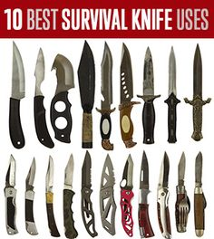 Knowing the purpose and uses for your knives can save your life.
