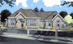 Contemporary European House Plan 50037