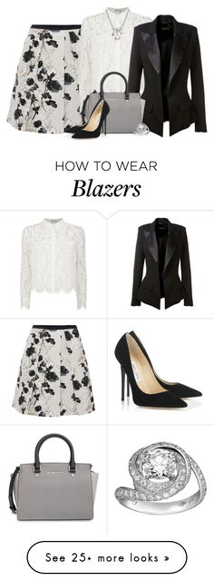 """""""Floral skirt"""" by danigrll on Polyvore featuring moda, Weekend Max Mara, Chay, Alexandre Vauthier, MICHAEL Michael Kors, Jimmy Choo y MBLife.com"""