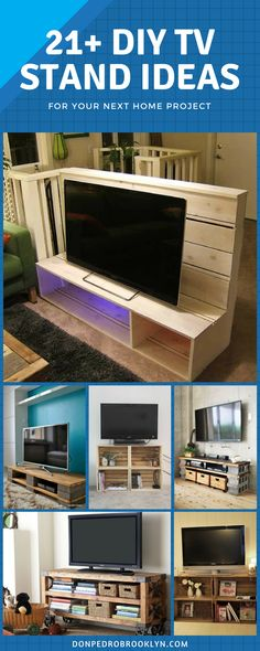 If you want to build a TV stand, choosing the best idea may be stressful, but don't take this as a burden. The material needed for these DIY ideas can be found around the house, or if it is something you need to buy, it won't be expensive. Cheer up and let's begin the quest!  #DIY #TV #Stand