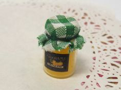 Dolls House 112 Miniature Glass Jar of Handmade by HomepetiteHome