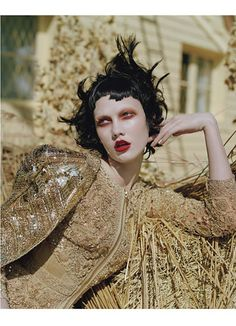 Givenchy Haute Couture by Riccardo Tisci's embroidered silk jacket and dress.