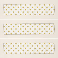 Chic Gold Polka Dots on White Scarf   #Chic #Gold #PolkaDots  #White #Scarfs #accessories #scarves #zazzle #design #winteraccessories