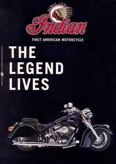 8375 - MOTORCYCLE - INDIAN 2000 - The Legend Lives - 29x41-