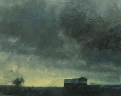 'Clearing Over Side Road 106' 11x14 Oil by David Sharpe