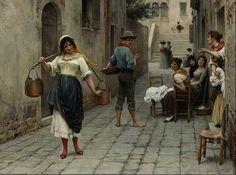 Eugenio de Blaas, La preda del giorno