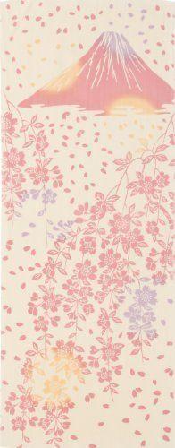 手作業で染め上げた本染め手拭いしだれ桜と富士山 TE-156:Amazon.co.jp:家電/生活雑貨