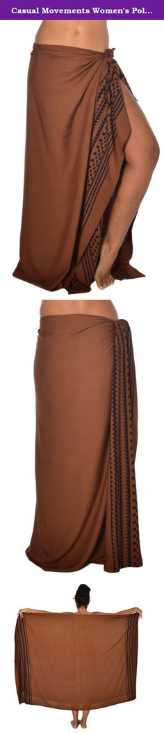 "Casual Movements Women's Polynesian Leg Tattoo Swimsuit Coverup Brown/Black70"" x 45"". Beautiful wraps made of natural fabric in unique designs that can be worn in a variety of ways. A garment for all seasons and all body types."