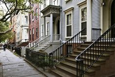 clapboarded frame row houses (c. 1828), 141 Henry Street, Brooklyn Heights, New York | Flickr - Photo Sharing!