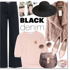 Denim Trend: Black Jeans by mada-malureanu on Polyvore featuring polyvore, fashion, style, Simone Rocha, dVb Victoria Beckham, Ted Baker, Miss Selfridge, Linda Farrow, women's clothing and women's fashion
