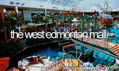 DONE - West Edmonton Mall (largest shopping mall in North America), Edmonton, Alberta Places To Travel, Places To See, Places Ive Been, Canada Day, Canada Trip, Beautiful Vacation Spots, Canadian Things, Canadian Travel, G Adventures