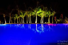 Poolnight - A night at the underwaterlit pool of the Millenium Resort in Cabarete, Dominican Republic