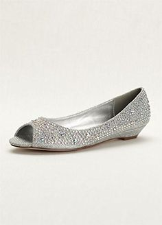 Wedding & Bridesmaid Shoes Low Wedge Peep Toe with AB Crystals Style... David's Bridal http://www.amazon.com/dp/B00HM6DFOS/ref=cm_sw_r_pi_dp_PSGwvb0CSTZR5
