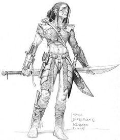 Female Barbarian, art by Todd Lockwood