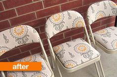 Before & After: Maysem's Reupholstered Folding Chairs @Gilda Locicero Therapy