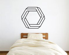 Geometric Bear Wall Decal Geometric Animals Decals door LivingWall