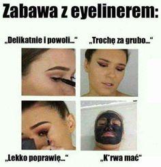 The eyeliner struggle is real. Bts Memes, Funny Memes, Hilarious, Meme Meme, Reaction Pictures, Funny Pictures, Struggle Is Real, Huda Beauty, Fotografia