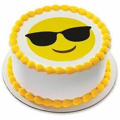 Emoji sunglasses cake
