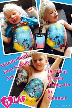 Olaf belly painting x