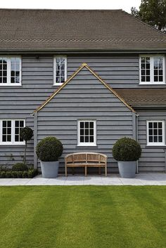 Exterior Paint Colors - You want a fresh new look for exterior of your home? Get inspired for your next exterior painting project with our color gallery. All About Best Home Exterior Paint Color Ideas House Colors, House Design, Exterior Colors, Grey Houses, Exterior Design, House, New England Style, Exterior Cladding, Cottage Exterior Colors