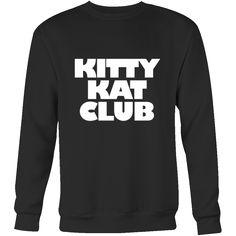 Kitty Kat Club Sweatshirt The perfect sweatshirt for all cat lovers, Cute cat sweatshirt. Cat club. Cat sweatshirt