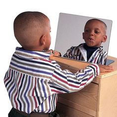 Portable Speech Mirror helps children develop speech and language skills by letting them watch themselves and others form sounds and words.