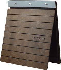 We have an arrangement of wood and bamboo menu covers for an outdoorsy aesthetic in your restaurant.