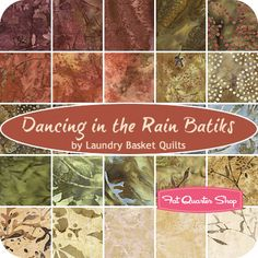 BATIK Dancing in the Rain Charm Pack Laundry Basket Quilts for Moda Fabrics - Fat Quarter Shop