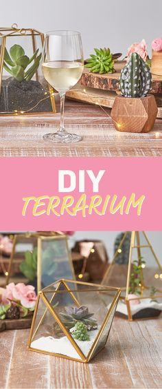 Make your living room lush with these simple succulent terrariums!