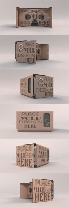 Cardboard Headset Orbit Mockups