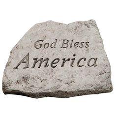 Garden Greetings God Bless America 8 inch Stone MS-1957