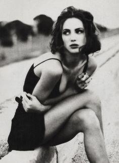 Christy Turlington wears Alberto Biono, photographed by Ellen von Unwerth. in Vogue Italia, January 1990.