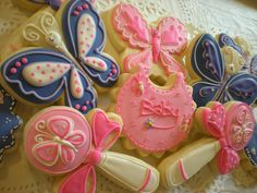 Butterfly Baby Shower Cookies