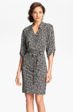 Laundry by Shelli Segal Print Jersey Shirtdress available at #Nordstrom