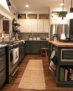 two toned kitchen More