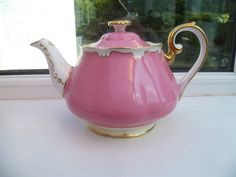 Stunning Vintage Royal Albert English China Teapot Pink Harlequin 2548 | eBay
