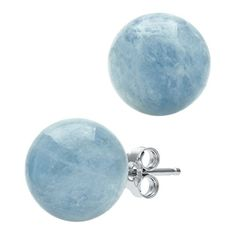 Sterling Silver 80mm Genuine Milky Aquamarine Blue Gemstone Stud Earrings  Adorn yourself in the simplistic elegance of these classic 8mm stud earrings featuring genuine milky aquamarine gemstones set in rhodium-plated sterling silver. With a design simple enough to wear over and over again, these blue stud earrings pair seamlessly with everything from your favorite dress to a casual button-front shirt and jeans, making them the perfect gift for yourself or a loved one. Elevate your ..
