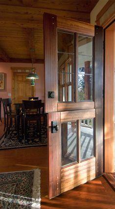 Dutch door for mud room.