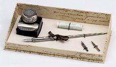 Old World Pewter Writing Set
