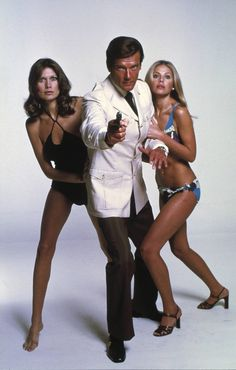 The Ubiquitous Bond Girls & Roger Moore (As Agent 007 - Bond...James Bond)