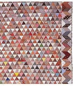 RUTHIE STUBBS. American, 19th Century, Charm Quilt, circa 1880. Hand-pieced and quilted cotton, chintz. Collection of the Mint Museum of by lolita